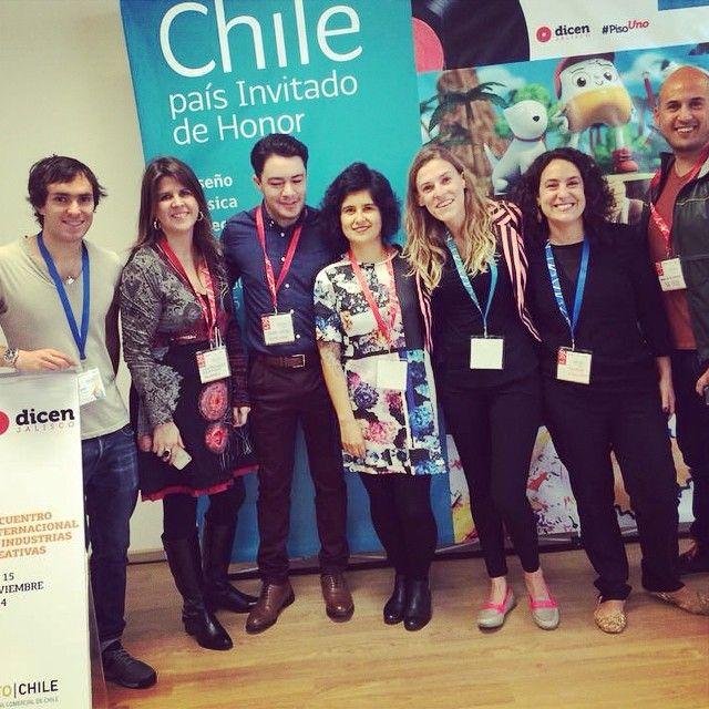 Encuentro internacional de industrias creativas Guadalajara - DF. Ya estamos instalados!  #prochile #disenjalisco