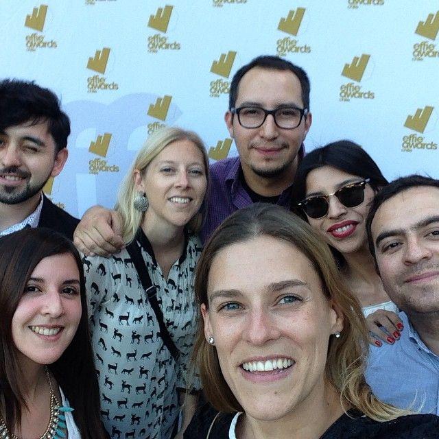 Equipo TacoAlto en los #effie2014 @nicdou @marco_nunez @michelledouglasv @moleasskiss Natalia, Laura y Seba!